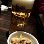田なか屋 - 生ビール&お通し