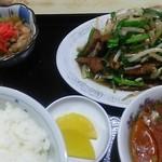 つぼ半 - ニラレバ炒め