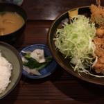 むさし - 串カツと鶏のから揚げ定食 800円
