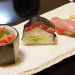 京洛肉料理 いっしん - 肉寿司3種