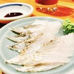 59202146 - H28.11 太刀魚のお刺身‼︎軽く炙って風味が良いわ♡