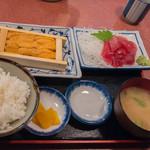 三洋食堂 - 生うに一箱定食(1,400円)