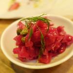 肉バル銀次郎 - 紫キャベツのビネガー風味