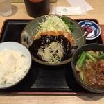 きしめん亭 - 味噌カツ定食 ¥1,200