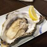 かきと水晶焼き 空 - 1611 空 焼き牡蠣(3年熟成もの1個)@580円