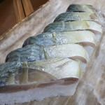 59209261 - 鯖寿司(極上)を生鯖仕上げで