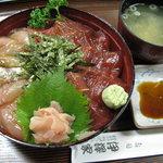5921520 - 漬けマグロ・カンパチ丼(850円)