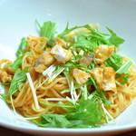 ランチ&バー 花菜 - 鱈と水菜のトマトソース
