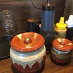 MARU-SU Dining - 卓上の調味料