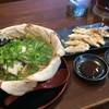 麺屋いちなり - 料理写真:チャーシュー310円をトッピングした、いちなり中華そば650円と餃子380円、〆て1340円のセットになりました