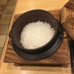 和食 や彦 - 釜炊き