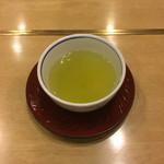 和食 や彦 - 最後に緑茶