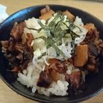 完熟ラーメン 本丸 - ミニ小豚丼。