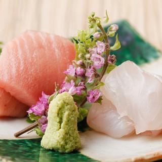 新鮮なお刺身をはじめ素材本来の味わいを存分にご賞味下さい。