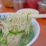 元祖ラーメン長浜家 - 他店に比べると、麺量が多めなので、       あっさりしてますが、満腹度は高いです。