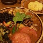 スープカレー トレジャー - どっさり一日分の野菜 1134円