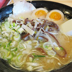 ラーメン花道 - さわやかラーメン600円。豚骨スープにレモン果汁をブレンドしたもの。