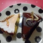 レーブ・ド・ルピナス - 焼チーズとザッハトルテ