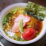 たいめいけん らーめんコーナー - ラーメン¥750 +煮玉子¥150