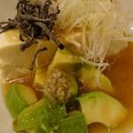 旨唐揚げと居酒メシ ミライザカ - 16/11/24 国産有機大豆 豆腐とアボカドの塩冷やっこ