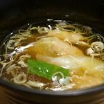 中華そば de 小松 - つまみ盛り・・ワンタンスープ