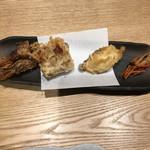 くずし割烹 天ぷら竹の庵 - がす海老・煮穴子・鯛・もち海老