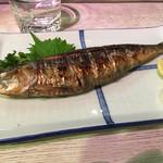 長浜屋台 やまちゃん - 鰯。小さめの秋刀魚ぐらいのサイズ。兎に角、内臓の苦味まで抜群にうまい!