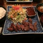 鉄火 - 牛カルビ焼肉定食800円