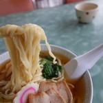 59239758 - 麺はオリジナルレシピでしょう(かんすい少なめなタイプ)、大鍋で泳がせておいて平ざるですくい上げた極上仕上げ♪(この世界が判る方は案外少ない)