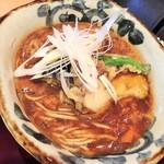 蕎麦 魯庵 - 和牛スジと秋野菜のカレーそば