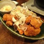 蕎麦バル 1351 - タコの唐揚げ