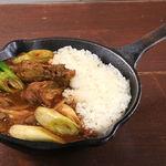 野菜を食べるカレーcamp - 長ネギと玉ネギのカシミール風チキンカレー