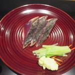 かま田 - ⑧縞鰹の塩タタキ