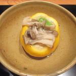 かま田 - ⑧鯛と生麩柚皮蒸し