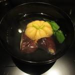 かま田 - ⑧足赤海老の真薯と天恵菇の椀