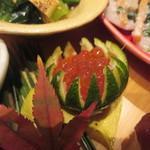 かま田 - ⑧肉が苦手の家内は鴨の代わりにイクラ
