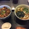 開化亭 - 料理写真:スジ肉丼定食、うどん大盛り