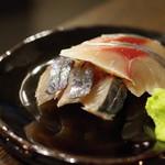 日本酒BAR 希紡庵 - 関鯖の〆鯖