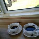 海の宇宙館 喫茶コーナー - 朝のコーヒー。