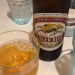 アジアンキッチン オオツカレー - ビール