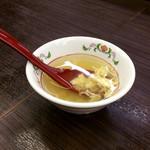 59253038 - オマケのスープ。注文後すぐにこれだけ出されてもなぁ。サラダじゃないんだし。