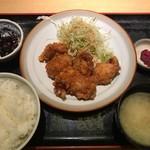 驛亭 - 鶏唐定食 甘辛タレ