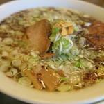 食堂きかく - サバだしらーめん&ミニソースかつ丼セット1,050円のサバだしラーメンアップ