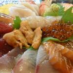 居酒屋 ぎょっぷ - 赤鬼海鮮丼アップ