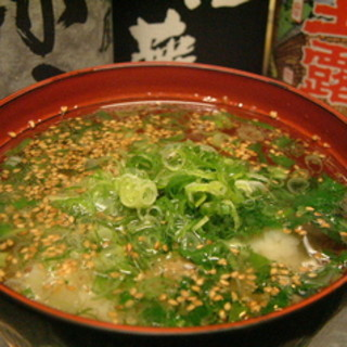 厳選素材が自慢のスープ