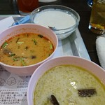 59259138 - グリーンカレーと鶏のトムヤンクンスープ