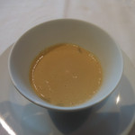 59262177 - 牛蒡のスープと温度卵 柘榴とシェリーヴィネガー 百合根 パンチェッタ