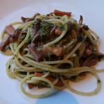 SALVATORE CUOMO - やりいかと青海苔のアーリオ・オーリオスパゲッティ