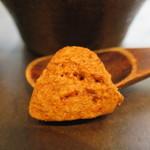 すずの木カフェ - 深いりコーヒーに添えられたクッキーアップ