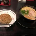 ラーメンほそかわ - 元味+半チャーハンセット960円(税込)